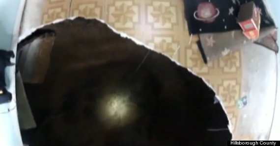 Man-eating sinkhole in Florida bedroom